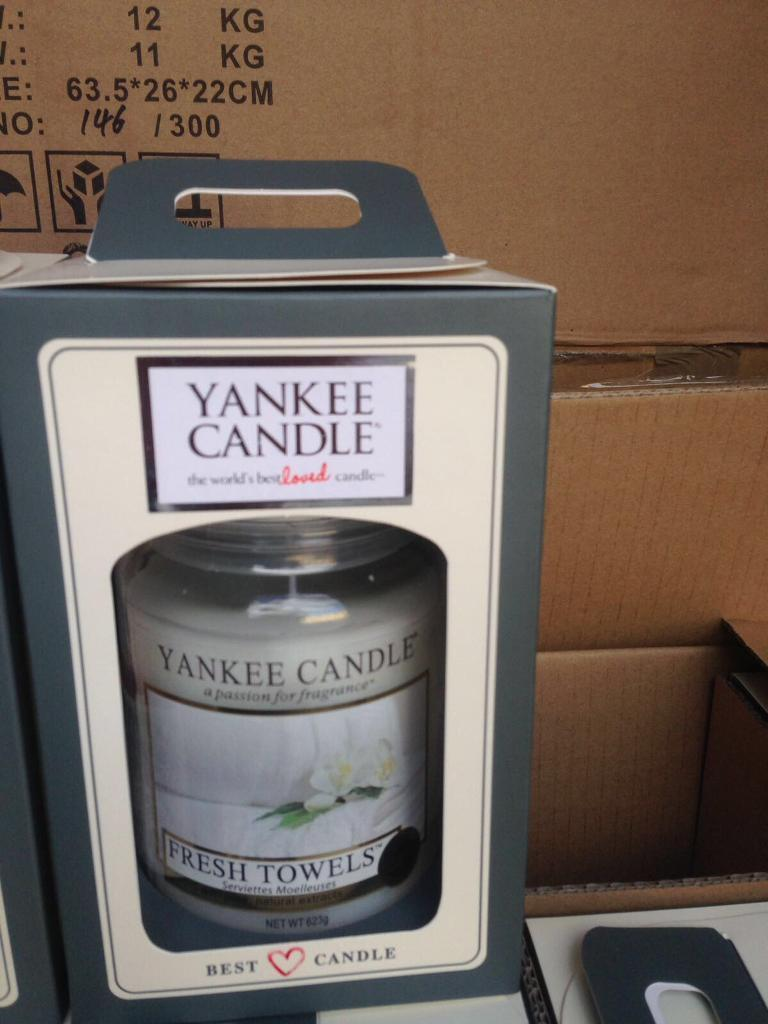 Boxed Yankee candles
