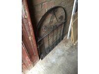 Black iron/metal gate