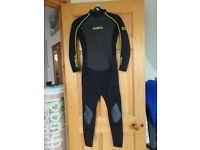 Boys summer full length wetsuit Gul Response liquid skin 3:2 JXL chest 78cm