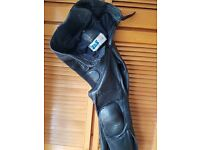 """J and S leather motor cycle trousers 30"""""""