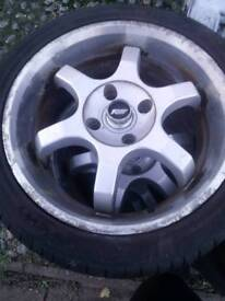 Tws alloy wheels with tires