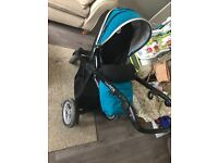Babystyle Oyster Max 2 Tandem Double/Single Pram Travel System Teal