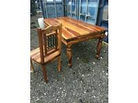 Solid wood table and matching 6 chairs