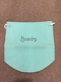New unused - Aqua coloured large laundry bag - very durable