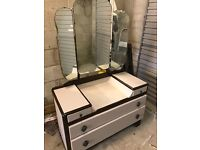 Dressing table- floral lined drawers