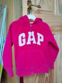 GAP fleece hoody pink, age 4 years, excellent condition