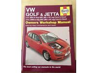Haynes VW Golf & Jetta manual