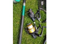 Carp fishing rod and accessories