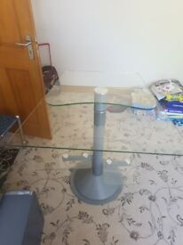 Glass computer stand