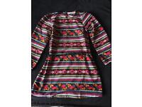 Girls multi coloured dress by Freespirit Age 8