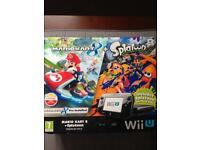 Nintendo Wii u with mario kart 8 and splatoon