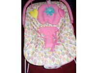 3. Baby items. Bouncer/bath/feeder.