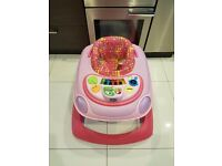 Chicco pink baby walker
