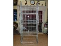 IRON WIRE SHOP DISPLAY STORAGE SHELF UNIT - BASKET - VEGETABLE RACK