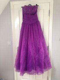 Purple prom dress ball gown