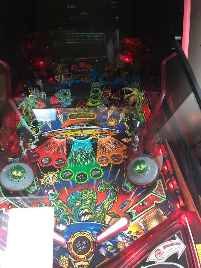 Revenge from mars pinball machine