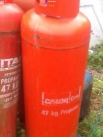 Gas bottles propane 47 kg empty feel free to come and have a look