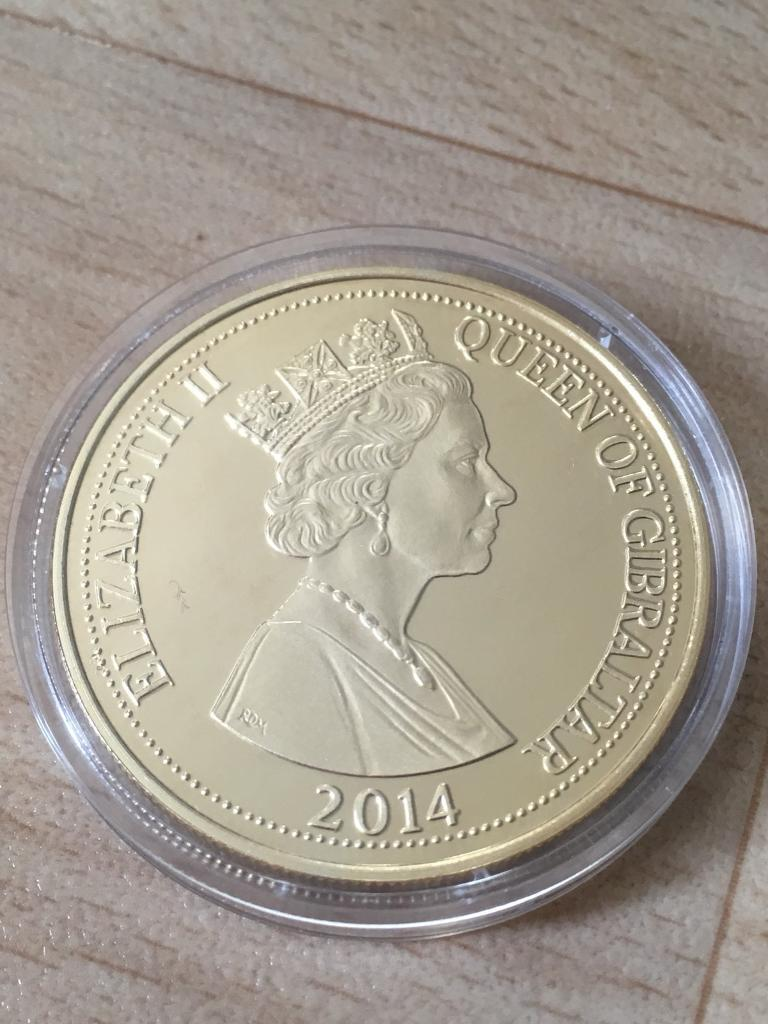 Layered 24KRT Gold WW1 Anniversary Coin