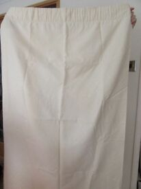 Curtains cream in colour 62 X 52 drop