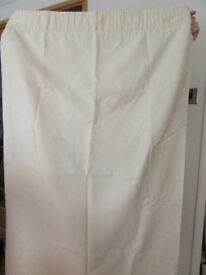 Curtains cream in colour 62 X 52 drop