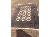 Large grey and beige Persian rug