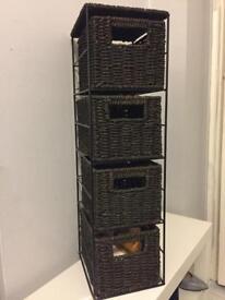 Storage baskets unit - Brown