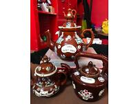 Collectable set of teapots