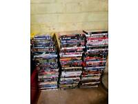 Approx 280 dvds and some cds