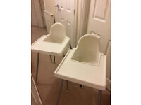 HIGH CHAIRS - VERY GOOD CONDITION