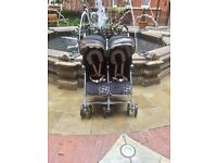 Maclaren Twin Techno Double pram - NEARLY NEW
