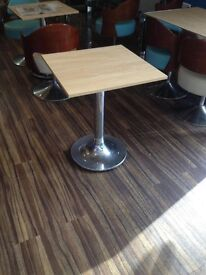 x 1 CAFE coffee Table AMAZING QUALITY 60cm x 60cm (x 7 available)