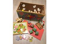 Girls wooden learning box
