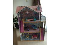 Annabelle large dolls house with furniture