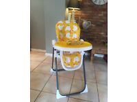 Used cossatto high chair fully reclining