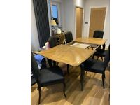 Barker & Stonehouse, Dolce Vita-Italian design, solid Cherry wood Dining Room Table and Chairs.