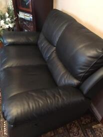 Two piece leather suite