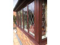 Domestic UPVC brown leaded windows and door