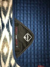 Lemieux suede square saddle pad & lemieux pro-sorb half pad