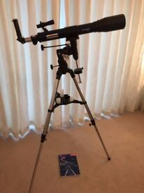Telescope as new with 3 interchangeable lenses