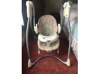 Graco baby swing and bouncer chair