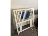 Single Bedframe White Wood