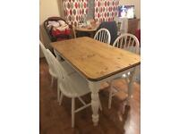 Rectangle dining table with four chairs