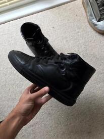 Balenciaga Men's Black Haute Fréquence Leather High Top