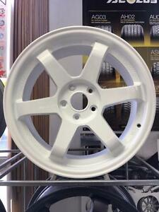 "NEW 18"" VOLK TE37 REPLICAS----PEARL WHITE, GUNMETAL, PEARL BLACK----$599.99 NO TAX!!!"