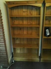 Pine book cases x2