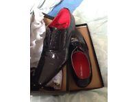 Black formal shoes size 10