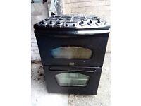Cooker full gas 60cm black