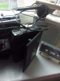 Old school cassette player Sharp xbass