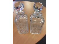 2x Bargain Crystal Decanters
