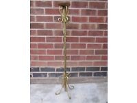 Heavy large candle stand. golden colour H: 105cms props flower shop boutique art deco FREE DELIVERY